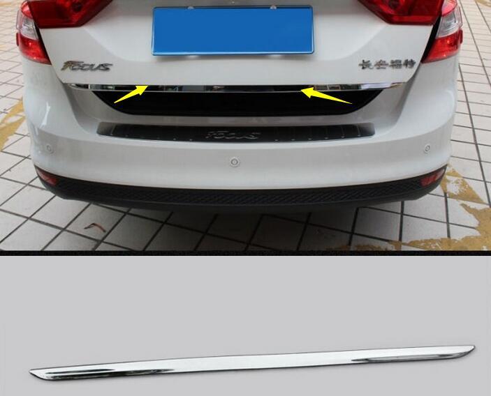 Prix pour Pare-chocs arrière Protecteur de coffre couvercle Vers Le Bas garniture pour Ford focus Berline/Hayon 2012