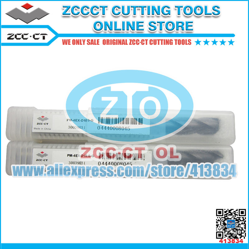 1pc PM 4EX D10 0 G PM ZCC CT 4 flute flattened end mills with straight