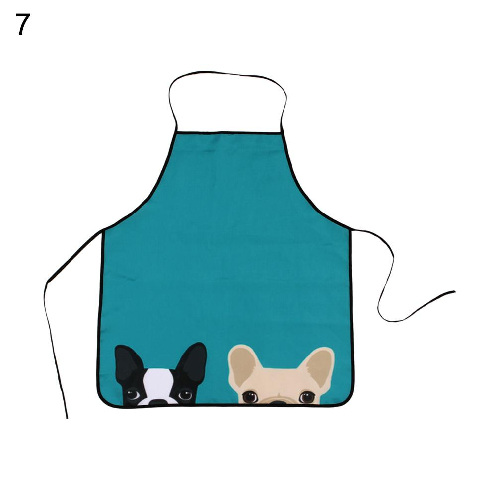 FORUDESIGNS Funny Black Kitchen Aprons Cute Printed Animal Dog Cat ...