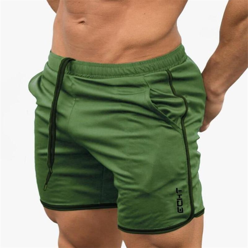 2019 Men's Casual Summer New Fashion Brand Men Gyms Shorts Fitness Bodybuilding Short Pants Beach Pants Elastic Slim Shorts