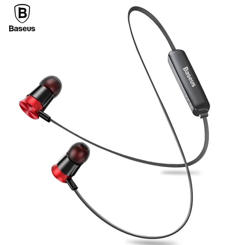 Baseus S07 Wireless Earphone CSR Bluetooth Headphones For Phone iPhone Xiaomi mi IPX5 Wireless Headset Stereo Earpiece Earbuds mi headphones comfort white