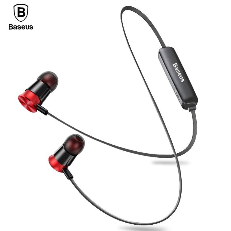 Baseus S07 auriculares inalámbricos CSR Bluetooth auriculares para teléfono iPhone Xiao mi IPX5 inalámbrico auriculares estéreo auriculares auricular auriculares