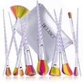 Pinceles de maquillaje 10 unids de'lanci pincel de maquillaje conjunto con colorido forma helicoidal mango en polvo sombra de ojos maquillaje pincel de pelo sintético