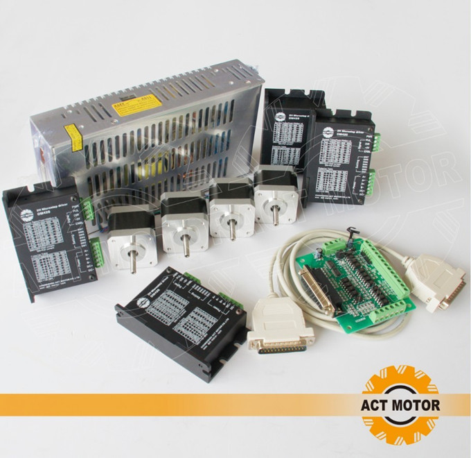 Great Kit! ACT 4Axis Nema17 Stepper Motor 17HS3404 2800g-cm 4-Lead 0.4A Bipolar+Driver DM420 1.7A 36V 128Micro +Power Supply arash najmaei and zahra sadeghinejad strategic flexibility of smes