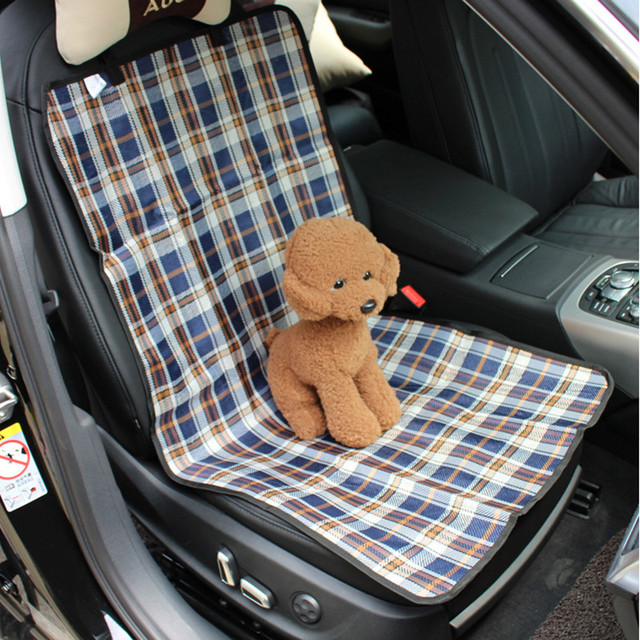 New Fashion Classical Plaid Waterproof Oxford Pet Dog Car Front Seat Cover Mat Anti Dirty