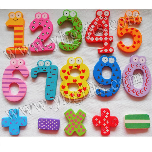 15PCS/LOT.Wood 0-9 numbers fridge magnet,Kids toys.Early educational DIY.Kindergarten crafts.Gifts.Wholesale