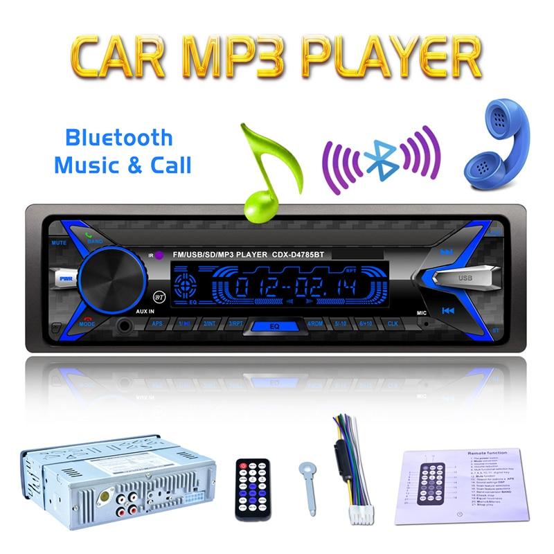 Rétro-éclairage coloré voiture lecteur MP3 Bluetooth électronique 12 V grand LCD lecteur Audio voiture stéréo FM avec Port de carte USB TF