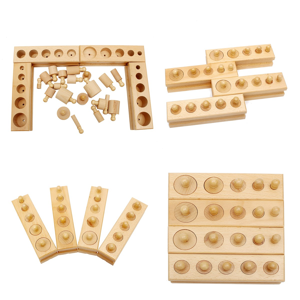 Knobbed Cylinder Blocks Family Set Wooden Montessori Educational Toy Gift For Children tcb remote control aircraft model aircraft lithium battery lion 11 1v 3500mah 25c 3s1p model aircraft battery
