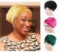 NOVAS mulheres de Luxo de veludo longo lenço chapéu hijab Turbante indiano Headwrap Cabeça Envoltório Extra Longo tubo Lenço Empate