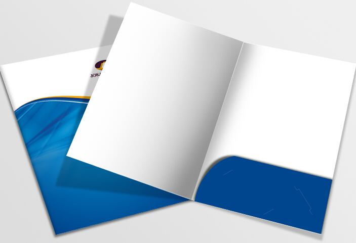 Printing A4 1000pcs Paper Presentation Folder  (free Design ,need  Your Logo And Details)