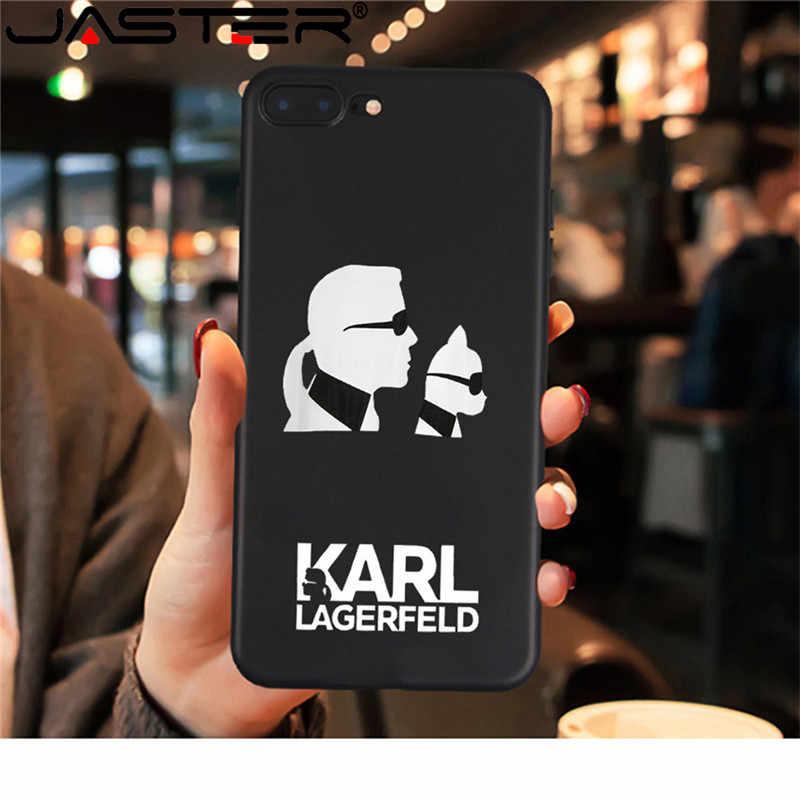 JASTER X para iPhone 7 Plus XS funda Karl Funny TPU funda de silicona suave para iPhone 6S 8 6 Plus funda para teléfono de XS Max