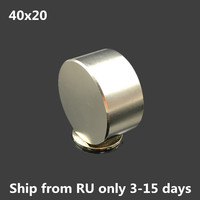 Ship From RU 1pcs Dia 40mm X 20mm Super Powerful Neodymium Magnet 40x20 Mm Disc Magnet