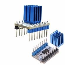 Super Silent TMC2100 Шаговый двигатель модуль драйвера теплоотвод для 3D-принтеры Запчасти