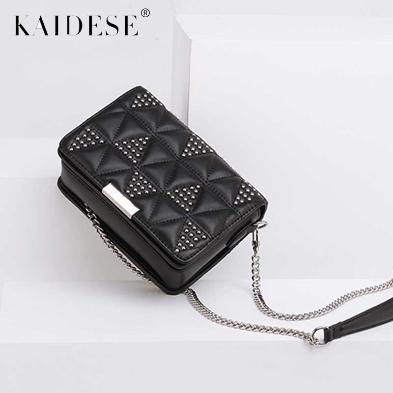 Women Leather Shoulder Bag Rivet Designer Chain Handbag Small Messenger Bags Cowhide Purse Crossbody for Lady Clutch cute cartoon women bag ice cream cupcake mini bags pu leather small chain handbag clutch crossbody girl shoulder messenger bag