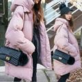 Inverno novo tamanho grande solto casulo-tipo de algodão Coreano estudantes do sexo feminino longo mais grosso amassado jaqueta de algodão pão das mulheres MZ1189