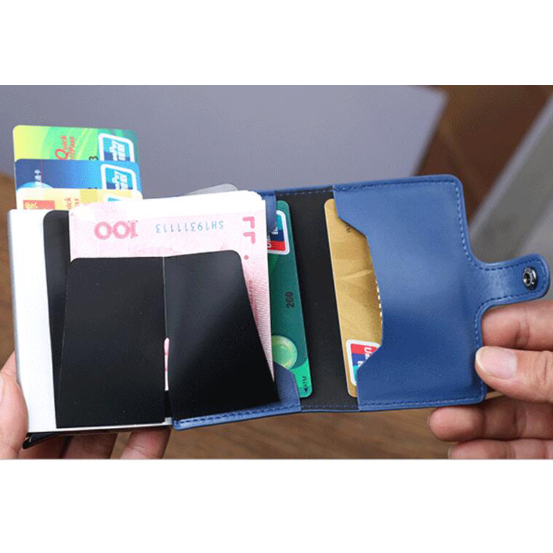 Itopkris Aluminum Women Credit Card Holder Travel Automatic Business ...