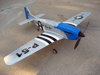 Large 4Ch Ready To Go Complete Set Radio Remote Control Airplane Mustang P51 Warbird EP RC Airplane RTF