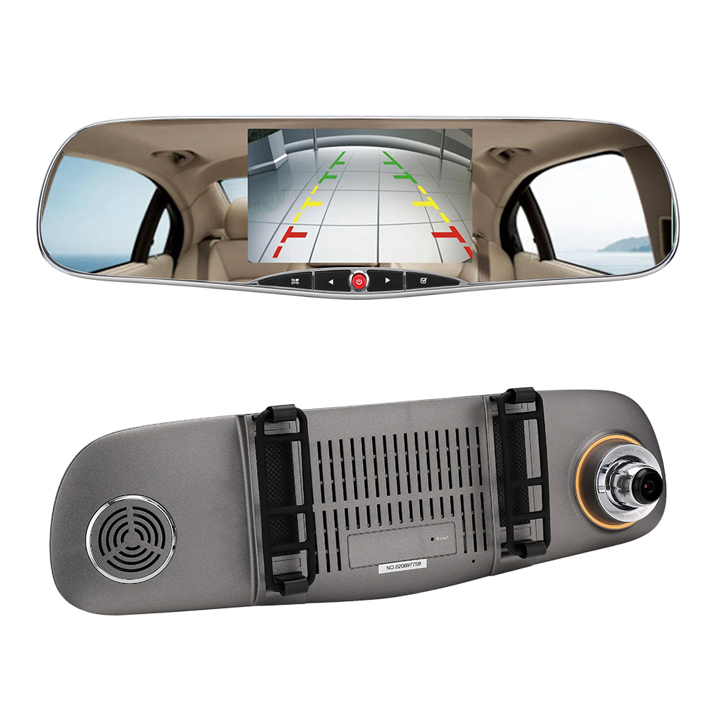 WiFi Dual Lens 5 HD 1080P Car DVR Video Recorder G-sensor Rearview Mirror Dash Camera Auto Registrar Rear view dvrs Dash cam wifi dual lens 5 hd 1080p car dvr video recorder g sensor rearview mirror dash camera auto registrar rear view dvrs dash cam