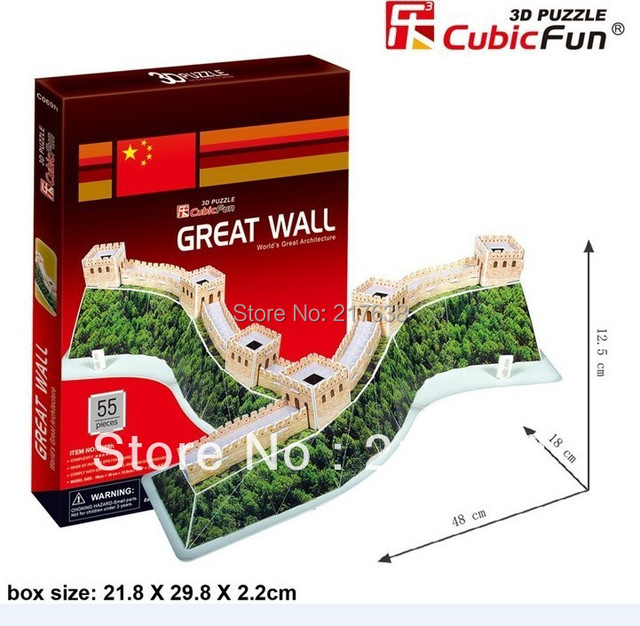 3D puzzle  GREAT WALL  building model educational toy free shipping