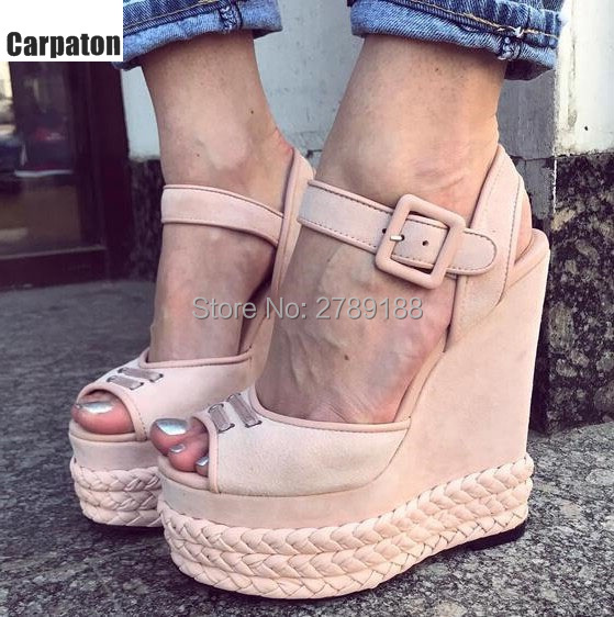 2017 Summer Fashion ladies Sandals High Heel wedge heel Sandals Open Toe women fashion shoes women dress shoes Party Shoes most popular women summer mid calf boots high heel sandals open toe cutouts design elegant black stilettos ladies casual shoes