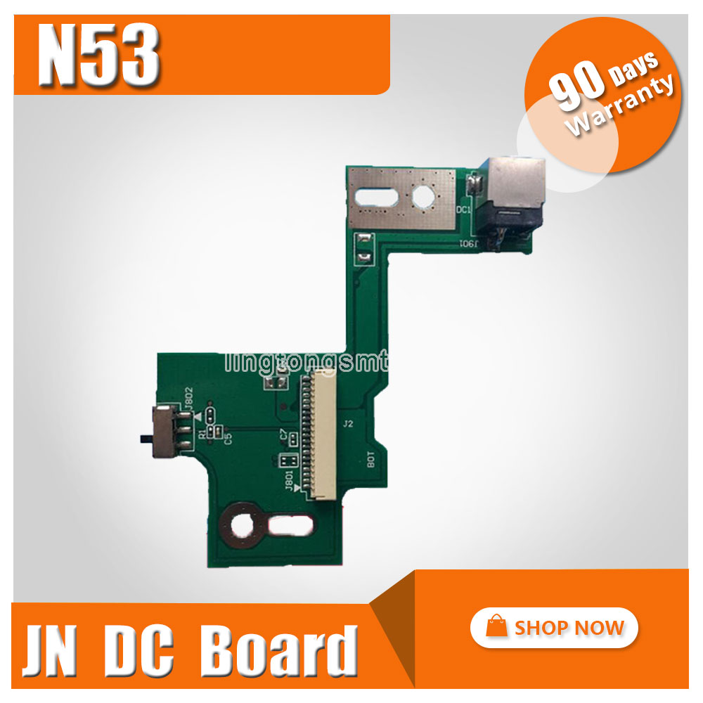 DC Power Jack Board For ASUS N53 N53S N53J N53TA N53TK N53T N53D N53SM N53DA N53JF N53JN N53SN N53JG Small Board free shipping new lcd cable for asus n53s n53j n53d n53sv n53 lcd video cable