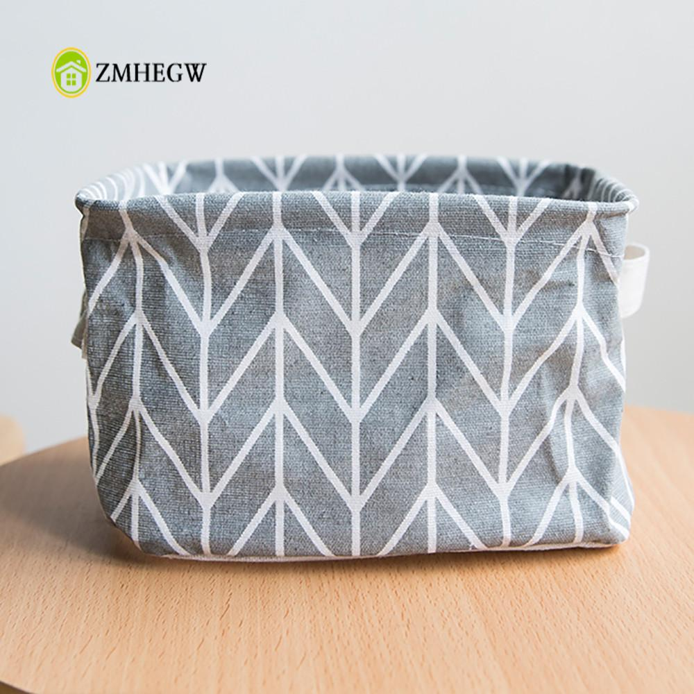 Foldable 5 Colors Storage Bin Closet Toy Box Cloth Container Organizer Fabric Basket Home Desktop Storage Basket Bags Dropship