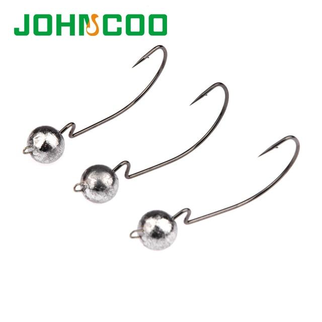 NEW 5pcs Crank Lead Sharp Hooks 3.5g/7g/10g Jig Head Hooks Artificial Bait Worms Hook Soft Lure Fishing Hook