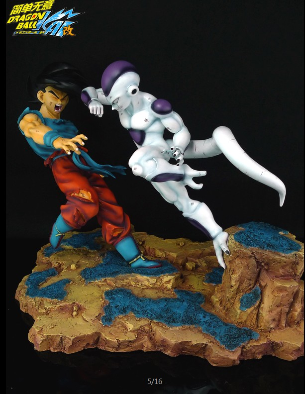 MODEL FANS the same paragraph vkh DRAGON BALL Z Son Goku VS Frieza gk resin action figure toy model fans dragon ball vkh 32cm goku vs piccolo gk resin statue figure toy for collection