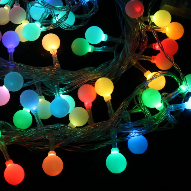 Wedding supplies christmas tree decoration pendant birthday supplies 5 meters beads cherry led string of lights