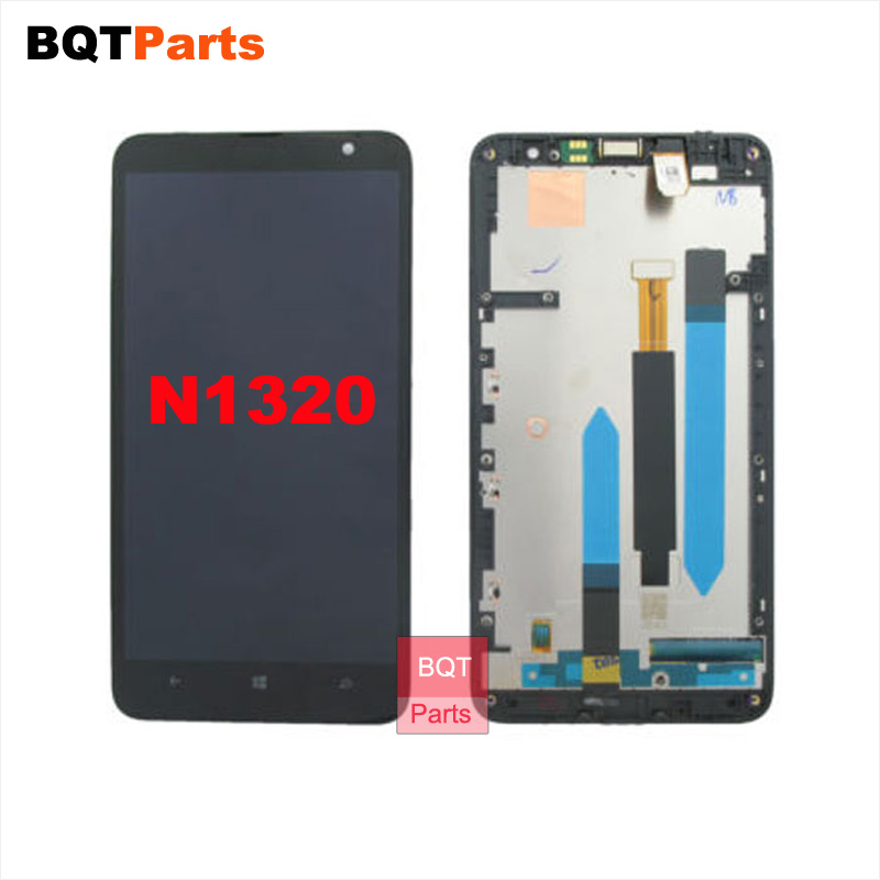 ФОТО 6 Inch N1320 Lcd Sreen for Nokia Lumia 1320 Lcd Display Screen Digitizer with Frame 100% Test