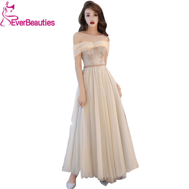 a572cf285aa US $78.08 30% OFF|Sexy Off Shoulder Evening Dresses Long Appliques Beading  Elegant Party Gowns Prom Dresses Robe De Soiree Evening Gowns-in Evening ...