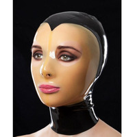 100% Latex Hood Mask Rubber Mask with Zip on Back for Party