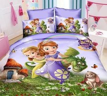 sofia the first printed bedding sets Children Girl's bedroom decor single twin size bedclothes quilt duvet covers 3pcs no filler