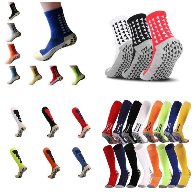 New 2019 Anti-Slip Breathable  Men Summer Running Cotton And Rubber Socks  Football Socks  High Quality Men  Men Women Long Sock