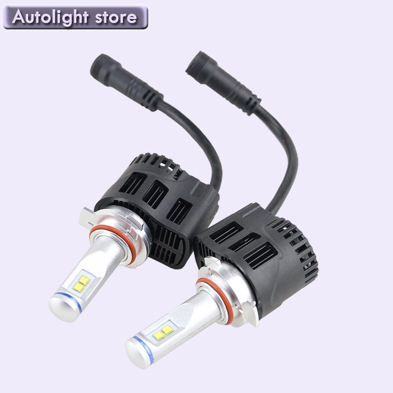 ФОТО Best Price HB3 9005 Auto LED Car Headlights bulb 12V 24V DC  Pure White 9005 LED Headlight Source 5200LM 55W