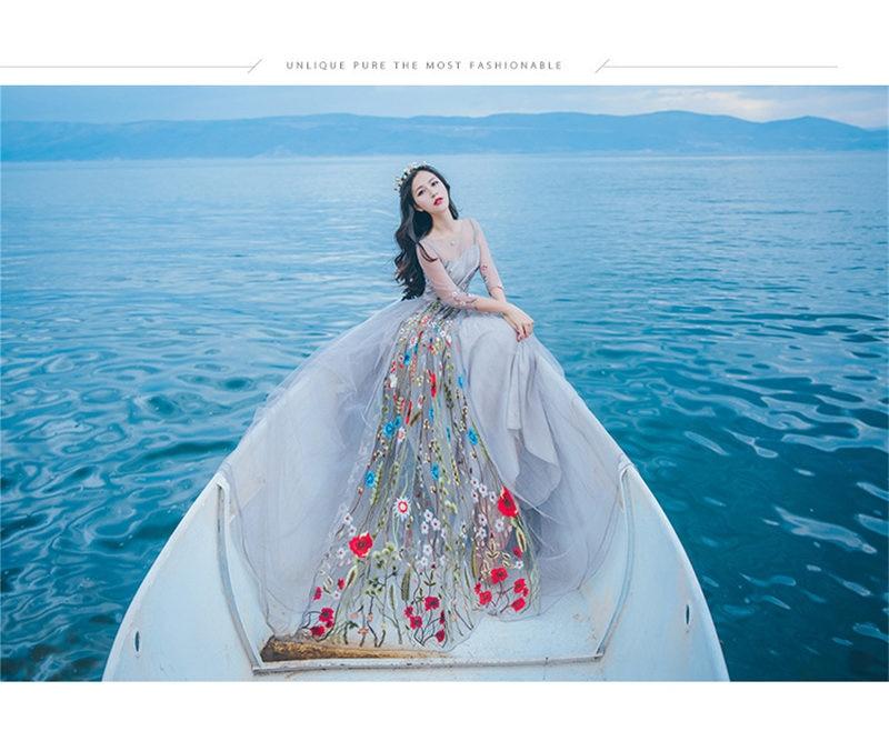 2019 nouvelle haute qualité Explosions loisirs brodé vacances plage robe femmes été dentelle robe maille demi manches dentelle robe