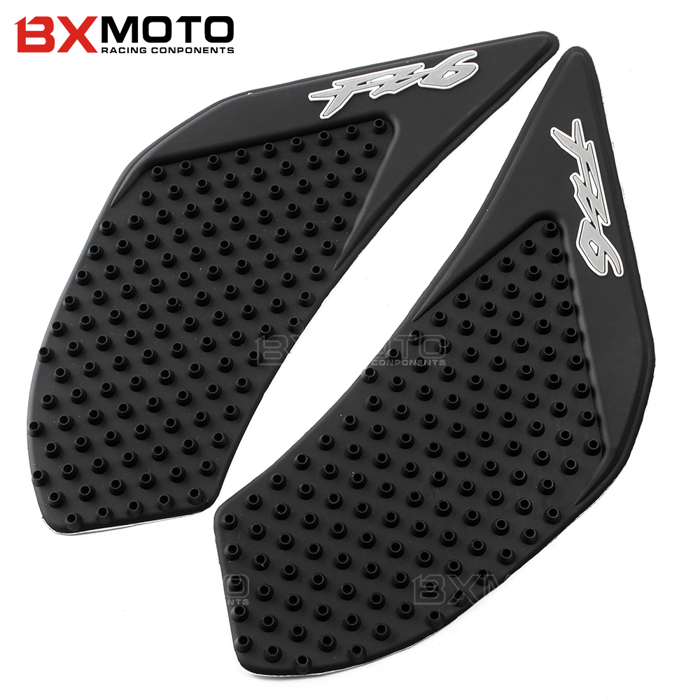 For Yamaha FZ6 FZ-6 FZ6N FZ 6N 2006-2009 2010 Motorcycle Anti slip Tank Pad Side Gas Knee Grip Traction Pads Protector Sticker scoyco motorcycle riding knee protector extreme sports knee pads bycle cycling bike racing tactal skate protective ear