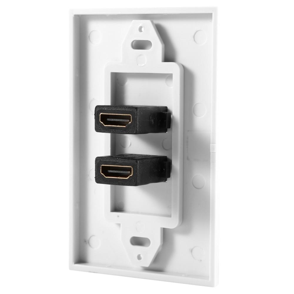Ethernet Wand HDMI Kabel Dual Port Vergoldete HDMI Abdeckung für ...