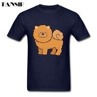Novità T-Shirt Uomini uomo Manica Corta In Cotone Personalizzata Carino Chow chow Dog Lover Ragazzi Tops Abbigliamento Uomo T-Shirt