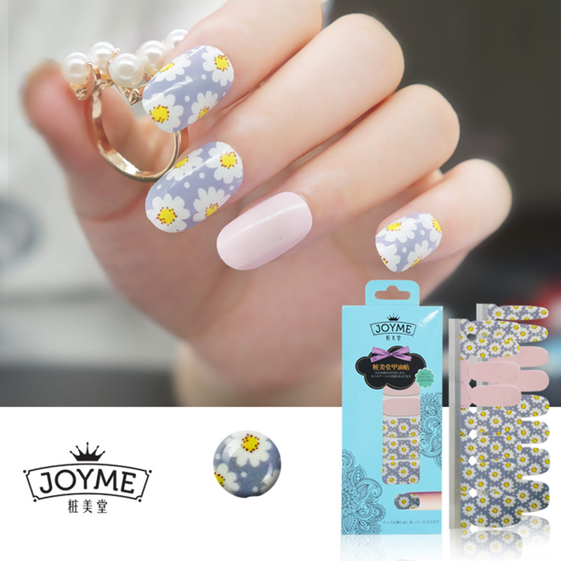 Aliexpress High Quality 100 Real Nail Polish Strip Full Flower Sticker Salon Effects Art 16pcs From Reliable Suppliers On