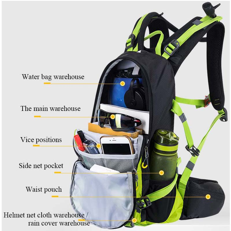 ANMEILU 20L deportes bolsa de Nylon resistente al agua Camping escalada bolsa Mochila de viaje al aire libre senderismo ciclismo Mochila cubierta de lluvia Mochila - 2