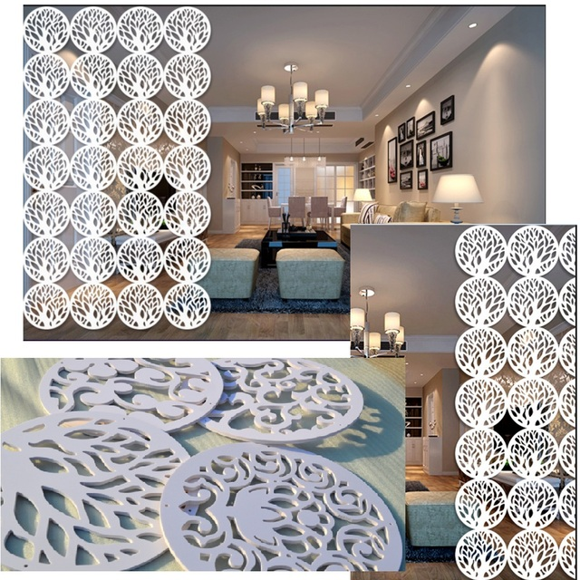 Hollow Out Hanging Screen Modular Screen Folding Porch Partition Decoration Door  Curtain Wall Stickers In The