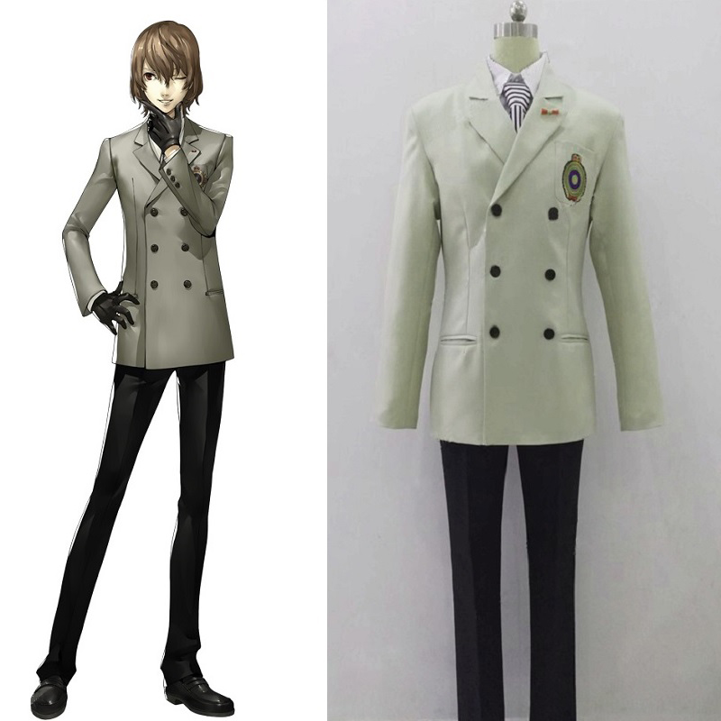 Persona 5 Cosplay Goro Akechi School Uniform P5 Costumes Suits Cosplay Costume Outfits Custom Made