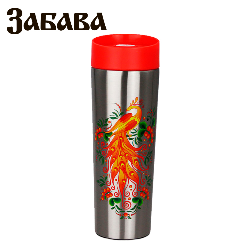 ZABAVA RK-0404M Hot cup 400ml Vacuum Flask Thermose Travel Sports Climb Thermal Pot Insulated Vacuum Bottle Stainless Steel 350ml wide mouth insulated water bottle with tea strainer