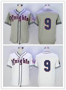 86404b07b1d Button Down Throwback Mens Jerseys Roy York Knights Natural Grey White Movie  Stitched