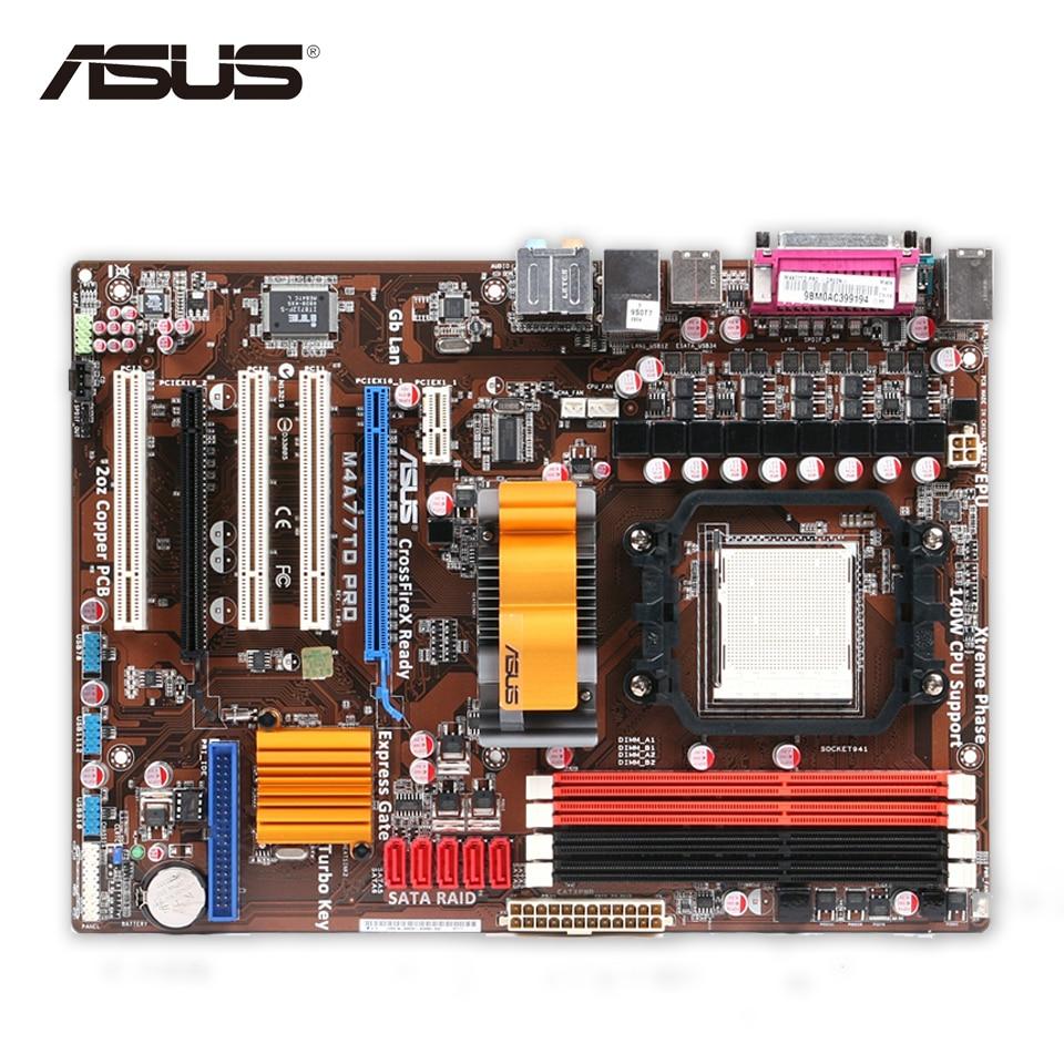 Asus M4A77TD PRO Desktop Motherboard 770 Socket AM3 DDR3 16GB SATA II USB2.0 ATX Second-hand High Quality asus p5qpl am в киеве
