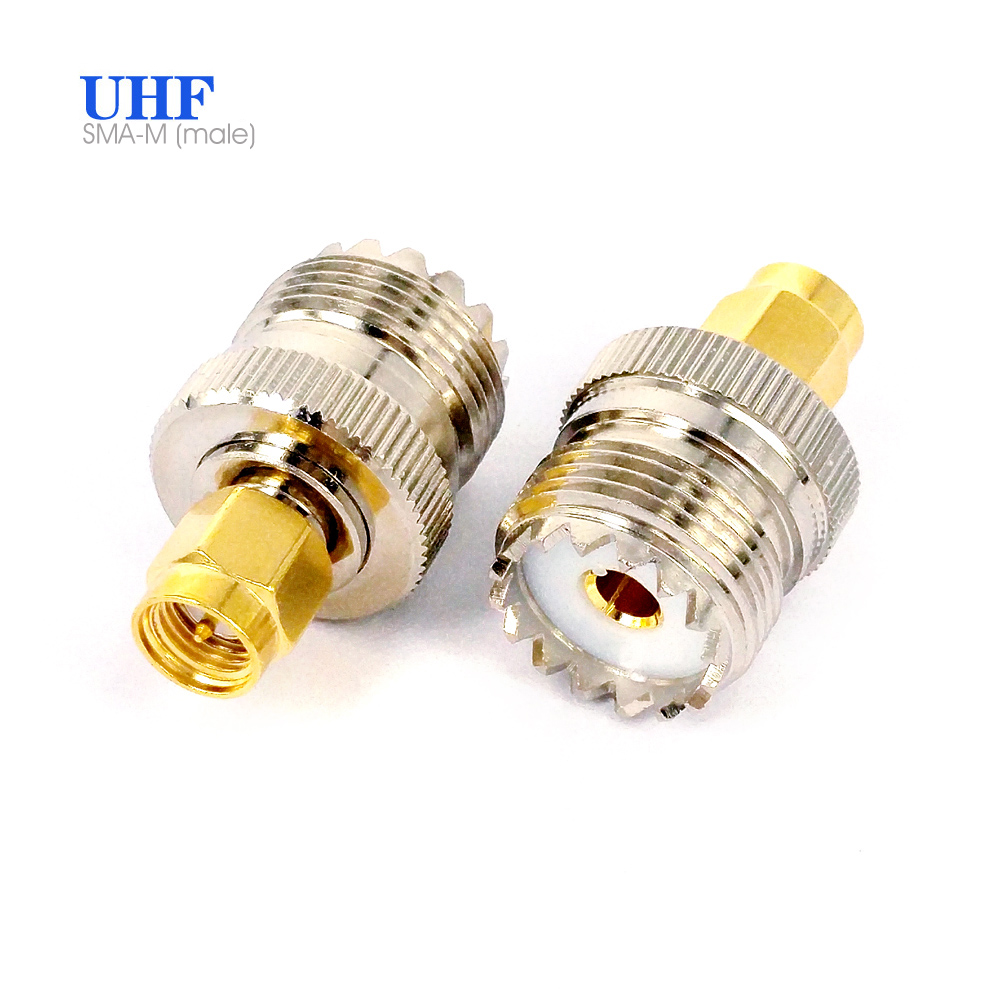 SO-239 Jack SMA Female Steel Alloy Coaxial Connector UHF Female To