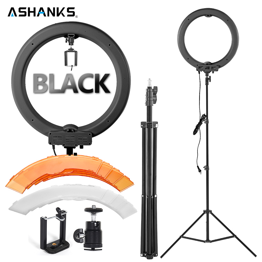 12'' 40W LED Selfie Ring Light with Stand Photography Dimmer Makeup Lights Lamp for Camera Photo Studio Phone Video Shooting