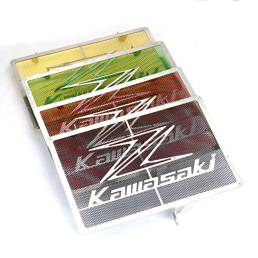 For Kawasaki Z750 Z800 ZR800 Z1000 Z1000SX Stainless Steel Motorcycle Radiator Grille Guard Cover Protector