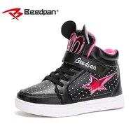 BEEDPAN Hot SALE lovely Children Shoes Autumn Winter Girls Dot Cartoon Sneakers Kids Sport star running Shoes